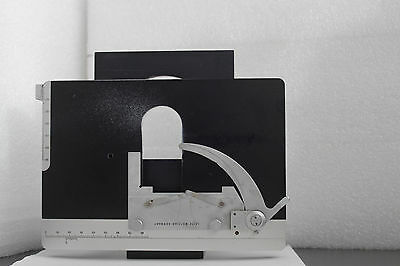 Leitz Laborlux microscope sample stage with slide holder and L-mount