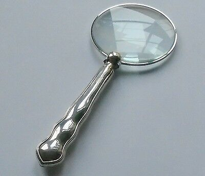 William Yates HM Silver Handle Magnifying Glass Sheffield 1925