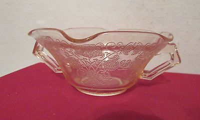 Hazel Atlas Pink Depression Glass Florentine Poppy #2 Cream Soup Nut Bowl
