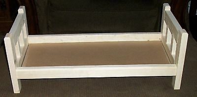 """Doll Bed For 18"""" Dolls American made New Solid Wood Unfinished Ready to Paint"""