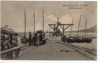 The Factory Pier St.Kitts Shipping Sugar Unused POSTCARD