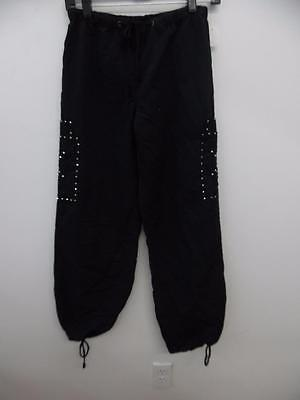 Dance Costume Large Child Black Rhinestoned Hip Hop Pants Solo Competition