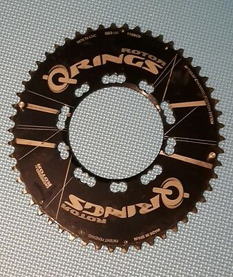Rotor Q-Ring Shimano Oval Aero Chainring 53T BCD 110mm 5 arm