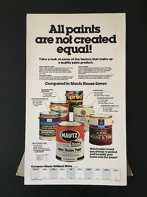 Mautz Paint Sherwin Williams Can Vintage Store Display Sign
