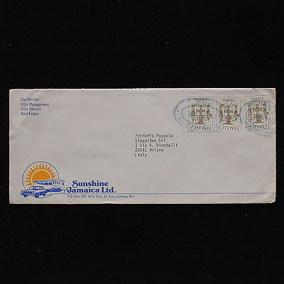 ZS-AB907 JAMAICA IND - Coats Of Arms, 1992 Airmail To Milan Italy Cover