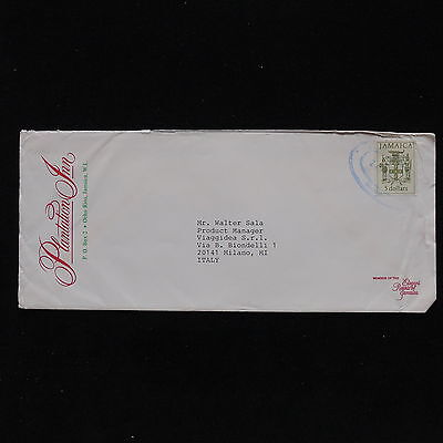 ZS-AB908 JAMAICA IND - Coats Of Arms, 1992 Airmail To Milan Italy Cover