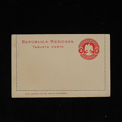 ZS-AC180 MEXICO - Entire, 2 Centavos Red, With Answer, Mint Cover