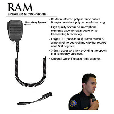 Tactical Ear Gadgets QR RAM Speaker Microphone for Tait 8100 / 9100 Radios