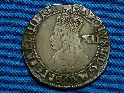 Charles II Shilling - 3rd coinage - mm crown