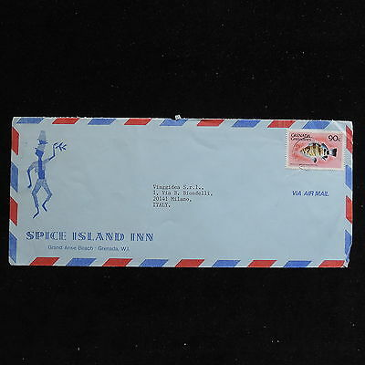 ZS-AC259 GRENADA IND - Fish, 1986 To Milan Italy Cover