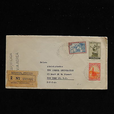 ZS-AC287 ARGENTINA - Registered, 1956 From Buenos Aires To New York Usa Cover