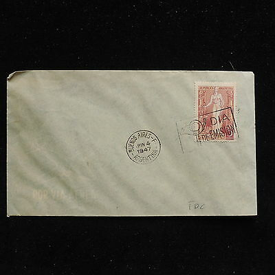 ZS-AC348 ARGENTINA - Fdc, 1947 From Buenos Aires Cover