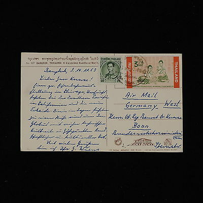 ZS-AC427 THAILAND - Airmail, To Bonn Germany Postcard