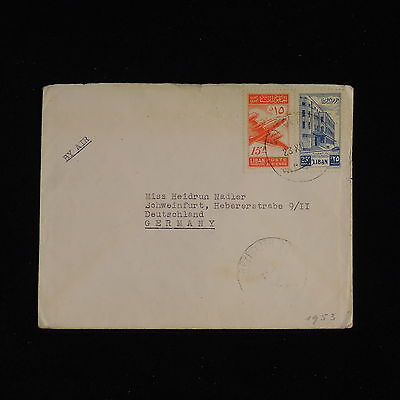 ZS-AC450 LEBANON IND - Airmail, 1953 To Schweinfurt Germany Cover