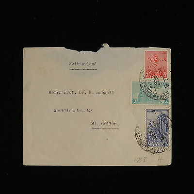 ZS-AC470 INDIA IND - Cover, 1953 To St Gallen Switzerland