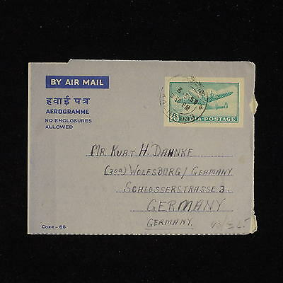 ZS-AC476 INDIA IND - Airletter, 1957 To Wolfsburg Germany Cover