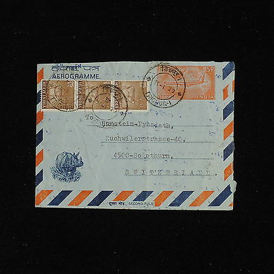 ZS-AC492 INDIA IND - Airletter, To Solothurn Switzerland Cover