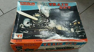 Vintage Rosko Toy.  Battery Operated Train Set. Boxed.