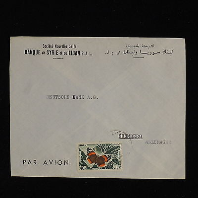 ZS-AC501 LEBANON IND - Butterflies, From Bank Of Syria To Deutsche Bank Cover