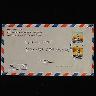 ZS-AC509 TAIWAN - Lighthouse, Airmail To Gehrden Germany Cover