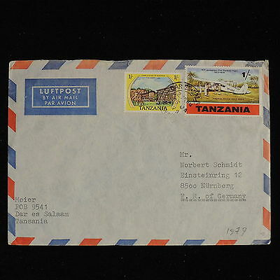 ZS-AC526 TANZANIA - Airmail, 1979 From Dar Es Salaam To Nurnberg Germany Cover