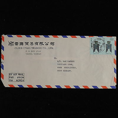 ZS-AC567 TAIWAN - Airmail, From Taipei To Nordlingen Germany Cover