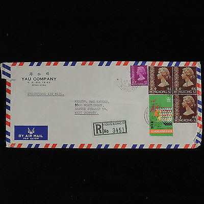 ZS-AC590 HONDURAS - Airmail, 1976 Registered To Germany Cover