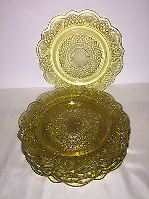 Federal Glass Amber Mayfair Depression Glass Dinner Plates Set of 6