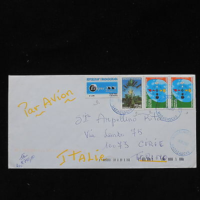 ZS-AC680 MADAGASCAR IND - Airmail, 2007 From Antanarivo To Cirie Italy Cover