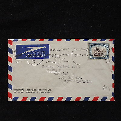 ZS-AC688 SOUTH AFRICA IND - Airmail, To Prague Czechoslovakia Cover