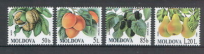 Moldova 2009 Fruits 4 MNH stamps