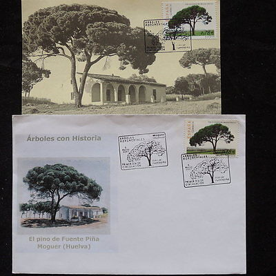 ZS-Q435 SPAIN - Maximum Card, 2002 Trees, Fdc 2 Different Covers