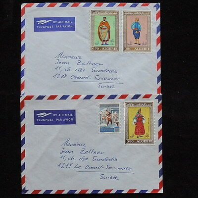 ZS-Q740 ALGERIA IND - Covers, Costumes, Folklore Air Mail To Switzerland