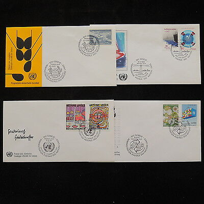 ZS-R236 UNITED NATIONS - Fdc, 1983 Lot Of 4, Great Franking Covers