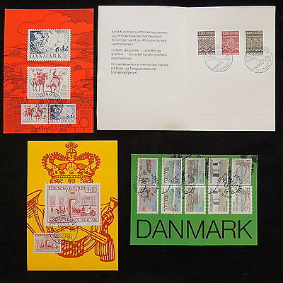 ZS-R298 DENMARK - Maximum Card, Stamp On Stamp, Booklet Great Franking Postcards