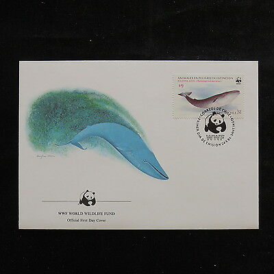 ZS-R727 CHILE - Wwf, 1984 Fdc, Animal Extinction Risk Cover