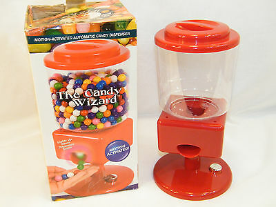 The Candy Wizard Automatic Motion Activated Candy Dispenser Gum Nuts Candies