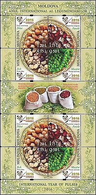 "Moldova 2016 UN ""International Year of pulses"" 8 MNH stamps"