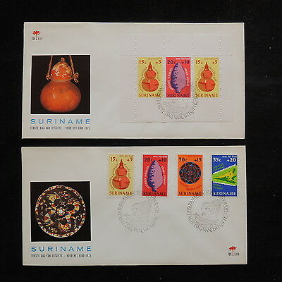ZS-R827 SURINAME IND - Pottery, 1975 Fdc, Hand Crafts, 2 Covers