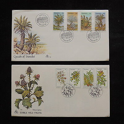 ZS-R845 PLANTS - Transkei, 1978 Fdc, Flowers, Fruits Lot Of 2 Covers
