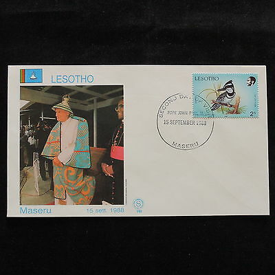 ZS-S073 LESOTHO - John Paul II, Visit To Maseru, 1988, Birds Cover