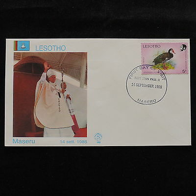 ZS-S075 LESOTHO - John Paul II, Visit To Maseru, 1988 Cover