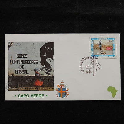 ZS-S169 CAPE VERDE IND - John Paul II, Visit To Africa, 1990, Fdc Cover