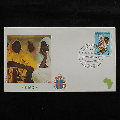 ZS-S170 CHAD IND - John Paul II, Visit To Africa, 1990, Fdc Cover