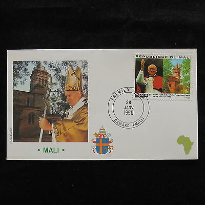 ZS-S172 MALI IND - John Paul II, Visit To Bamako, Africa, 1990, Fdc Cover
