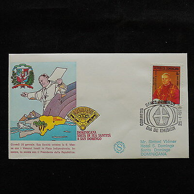 ZS-S176 DOMINICAN REP. - John Paul II, Visit To S. Domingo 1979, Fdc Cover