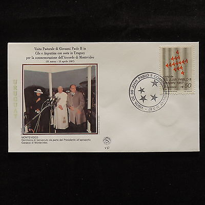 ZS-S208 URUGUAY - John Paul II, Visit To Montevideo, 1987, Fdc Cover