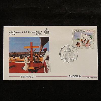 ZS-S251 ANGOLA IND - John Paul II, Visit To Benguela, Africa, 1992 Cover