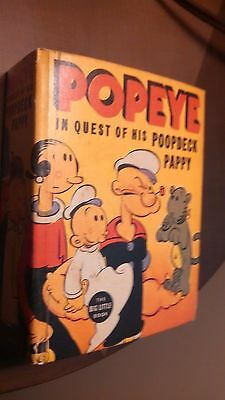 1937 Popeye In Quest of his Poopdeck Pappy VF condition BLB Big Little Book