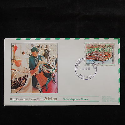 ZS-S299 MOZAMBIQUE IND - John Paul II, Visit To Maputo, Africa, 1988, Fdc Cover